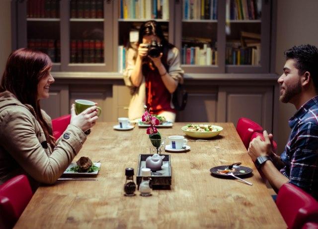Lori and Manu at the table