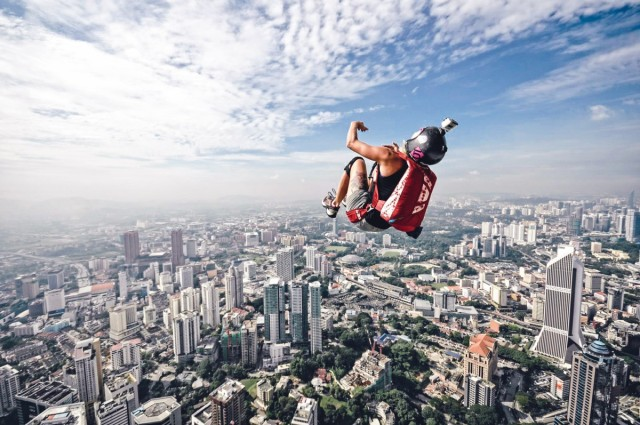 Jill jumping over Kuala Lumpur, Malaysia. Photo courtesy of Sarifhuddin Abdul