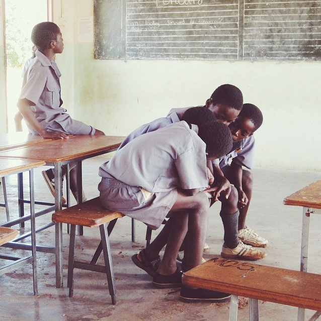 At school in Zimbabwe, Africa